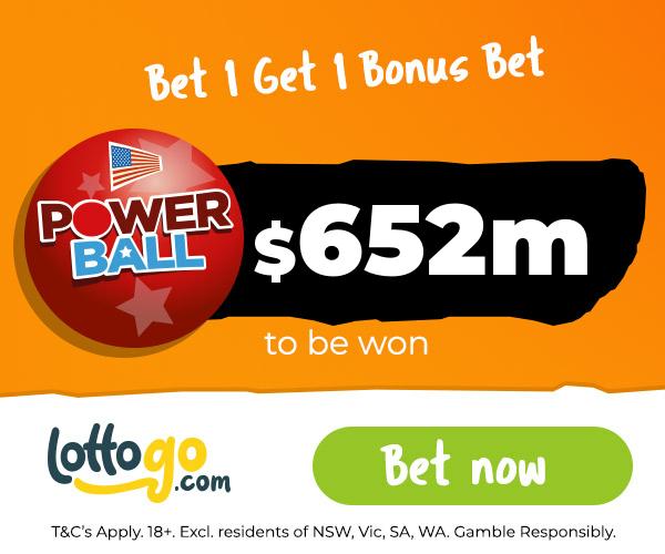 US Powerball Bet 1 Get 1 Bonus Bet