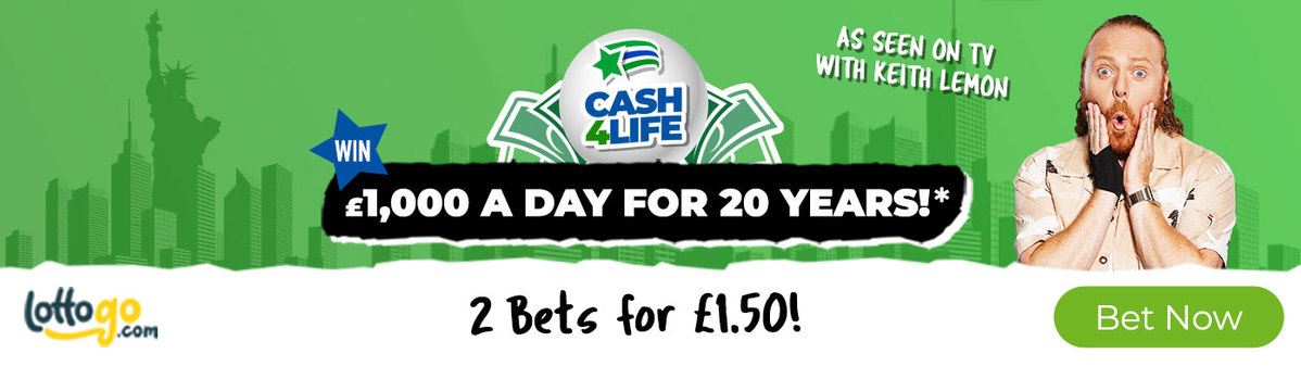 Cash4Life 2 Bets for 1.50