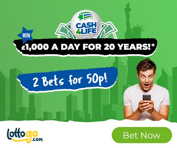 Cash4Life 2 Bets for 0.50